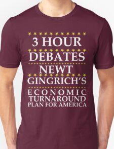 Newt Gingrich - 3 Hour Debates T-Shirt