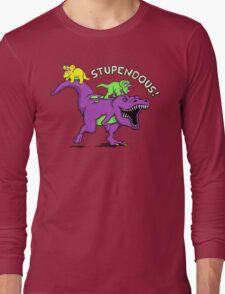 Stupendous! | Funny 90s Pop Culture Barney and Friends Dinosaur Long Sleeve T-Shirt