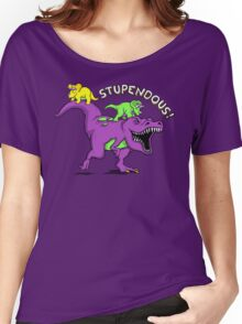 Stupendous! | Funny 90s Pop Culture Barney and Friends Dinosaur Women's Relaxed Fit T-Shirt