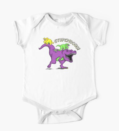 Stupendous! | Funny 90s Pop Culture Barney and Friends Dinosaur One Piece - Short Sleeve