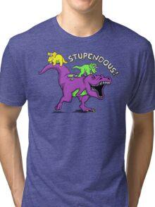 Stupendous!   Funny 90s Pop Culture Barney and Friends Dinosaur Tri-blend T-Shirt