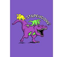 Stupendous! | Funny 90s Pop Culture Barney and Friends Dinosaur Photographic Print