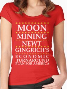 Newt Gingrich - Moon Mining Women's Fitted Scoop T-Shirt