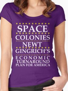Newt Gingrich - Space Colonies Women's Fitted Scoop T-Shirt