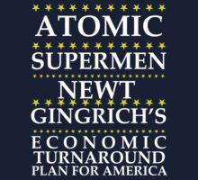 Newt Gingrich - Atomic Supermen One Piece - Long Sleeve