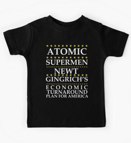 Newt Gingrich - Atomic Supermen Kids Tee