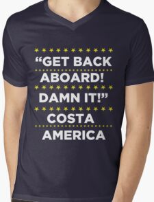 Costa America - Get Back Aboard, Damn it! Mens V-Neck T-Shirt