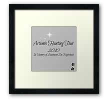 Artemis Hunting Tour 2010 Framed Print
