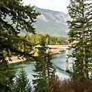 The Highway 200 Bridge at Thompson Falls by Bryan D. Spellman