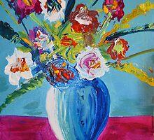 "Blue Vase Series ""Waiting Spring"" by allurenceart"