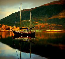 """AUTUMN ON LOCH LEVEN"" by snapitnc"