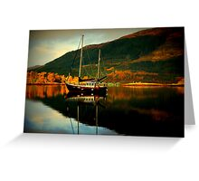 """""""AUTUMN ON LOCH LEVEN"""" Greeting Card"""