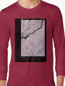 USGS Topo Map Washington State WA Boundary 20110406 TM Inverted Long Sleeve T-Shirt
