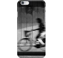 Passing-by cyclist iPhone Case/Skin
