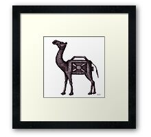 Water Container Camel surreal black and white pen ink drawing  Framed Print