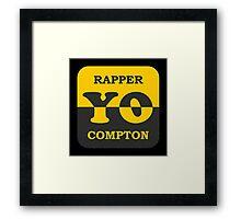 Cool Rapper Compton Framed Print