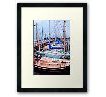 Soft Harbor Framed Print