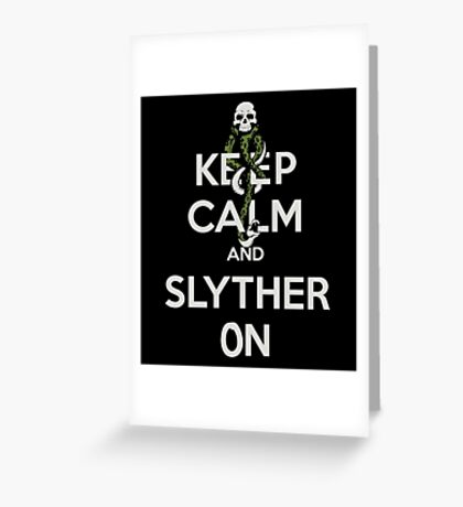 Slyther On Greeting Card