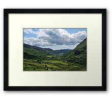 Wales The Nant Gwynant Pass -  Llyn Guynant       Framed Print
