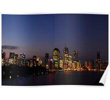 Brisbane City Skyline Poster