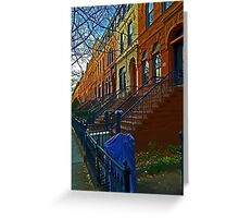 Park Slope townhouses, Brooklyn Greeting Card