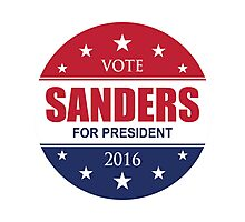 VOTE FOR BERNIE SANDERS 2016 STARS Photographic Print