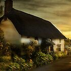 Cottage in Cornwall . by Irene  Burdell