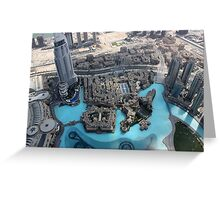 Dubai view from above  Greeting Card