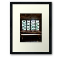 Stained Glass Window - Anne of Cleaves House Framed Print