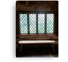 Stained Glass Window - Anne of Cleaves House Canvas Print