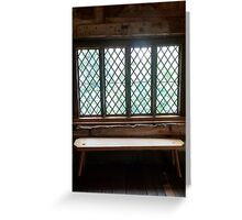 Stained Glass Window - Anne of Cleaves House Greeting Card