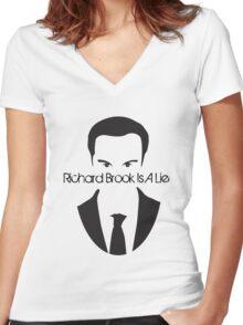 Richard Brook Is A Lie #2 Women's Fitted V-Neck T-Shirt