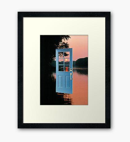 The portal to zen living Framed Print