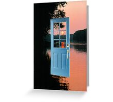 The portal to zen living Greeting Card