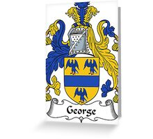 George Coat of Arms / George Family Crest Greeting Card