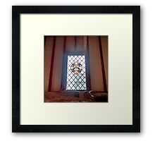 Stained Glass Window 2.0 - Anne of Cleaves House Framed Print