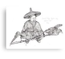 Cormorant Fisherman Canvas Print