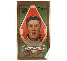 Benjamin K Edwards Collection James Delahanty Detroit Tigers baseball card portrait Poster