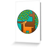 Deer in the Round Greeting Card