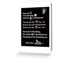 Linda Belcher Thanksgiving Song Greeting Card