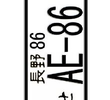 AE-86 JAPAN NUMBER PLATE by HKS588
