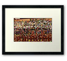 Figure crowd Framed Print