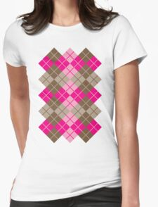 Argyle in Pink and Brown T-Shirt