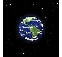 Pixel Earth Photographic Print