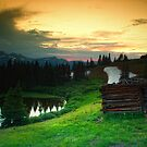 Old Cabin By The Pond by John  De Bord Photography