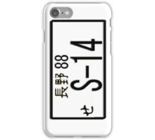 S-14 JAPAN NUMBER PLATE iPhone Case/Skin