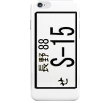 S-15 JAPAN NUMBER PLATE iPhone Case/Skin