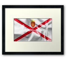 Jersey Flag Framed Print