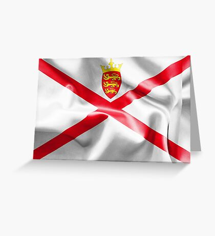 Jersey Flag Greeting Card