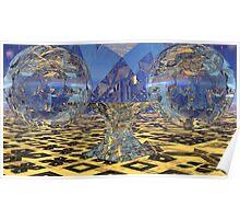 Karina's Alien Ale Globes Poster
